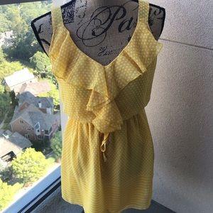 Bebop yellow & white dress